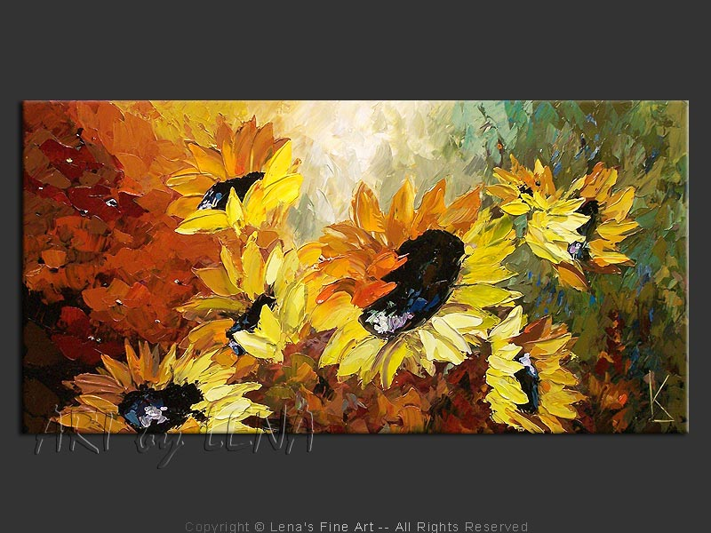 Sunflower Field At Dawn - art for sale