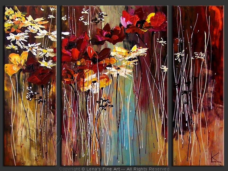 Современные картины для интерьера стильные с цветами