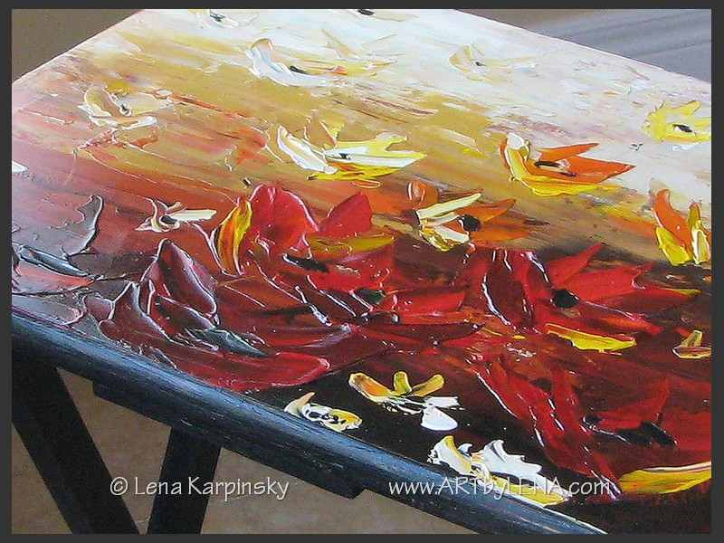 Painted Table - closeup