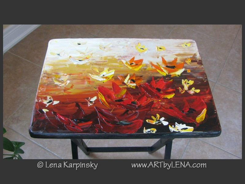 Painted Table - front