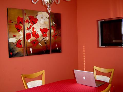 Flower Paintings in Interior Design ART by LENA