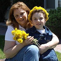 My son Eli shares my love to music and flowers