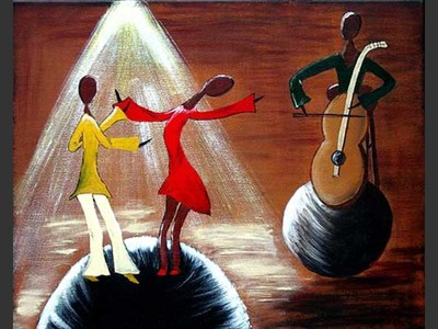 Caribbean Dance - contemporary painting