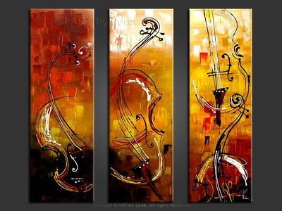 Dancing Violas - home decor art