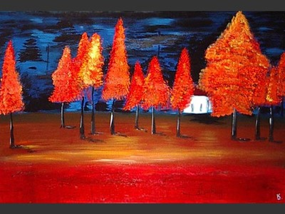 Red Autumn - modern artwork