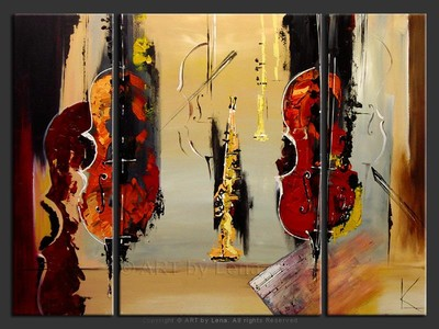 Encore Performers - original painting by Lena Karpinsky