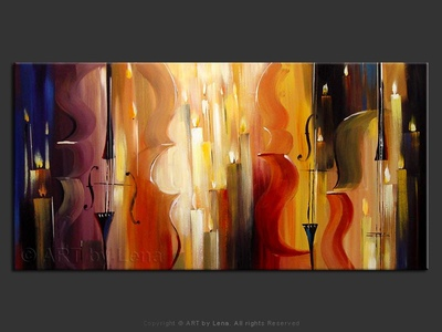 Music in The Golden Hall - original canvas painting by Lena