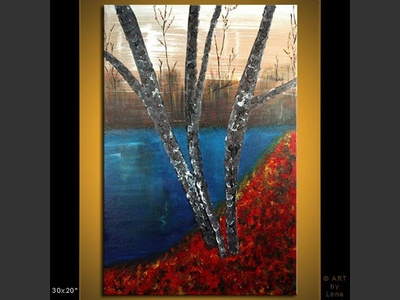 Fallen Leaves - original painting by Lena Karpinsky