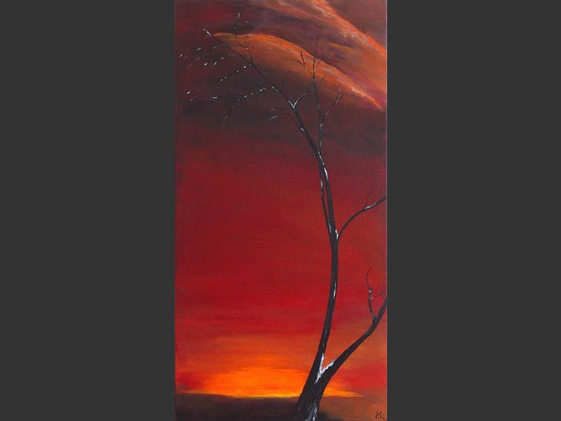 Sunset Solo - original painting by Lena Karpinsky