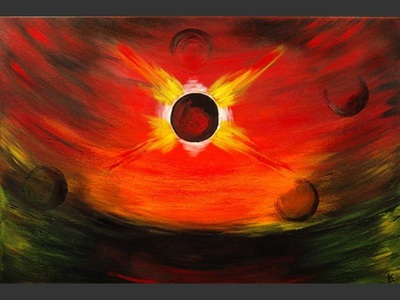 Supernova - contemporary painting