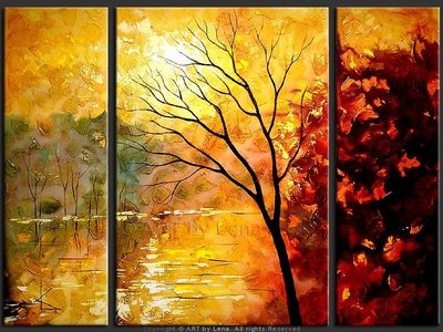 Autumn Lake Reflection - wall art
