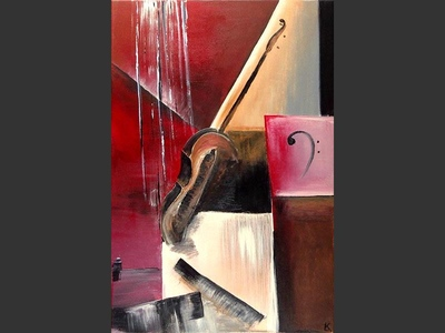 Cello - contemporary painting