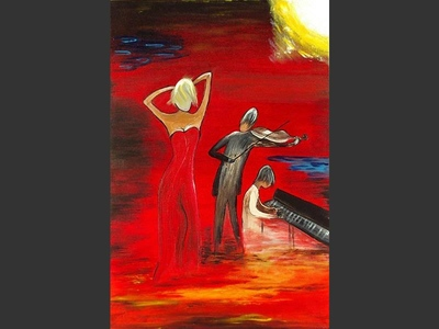 Fire Dance - contemporary painting