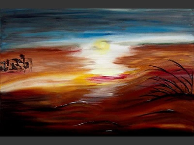 Desert Storm - contemporary painting