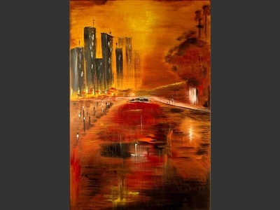 Highway - contemporary painting