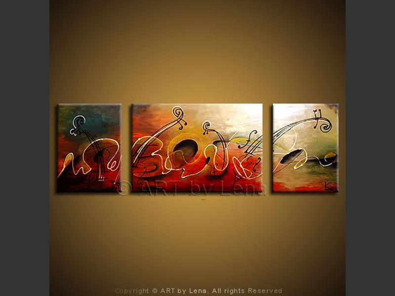 Waves of Music - contemporary painting