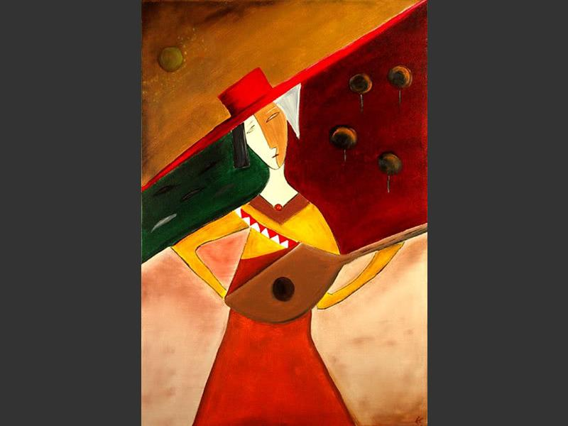 Lutenist - modern artwork