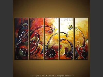 A String Quintet - contemporary painting