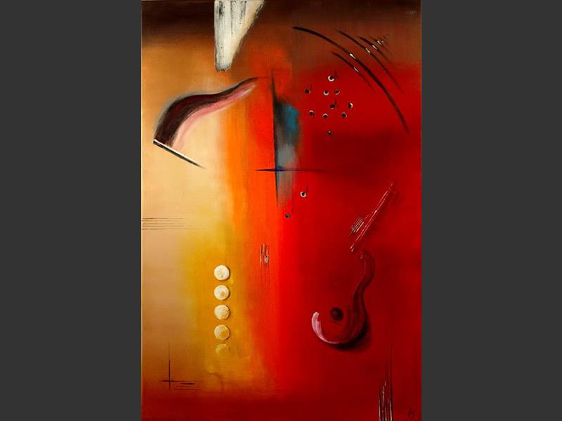 Flamenco Passion - contemporary painting