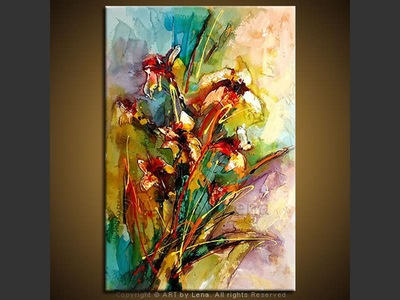 Morning Bouquet For You - original painting by Lena Karpinsky