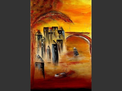 New Amsterdam - original canvas painting by Lena
