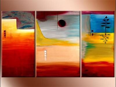 Eclipse Triptych - original painting by Lena Karpinsky