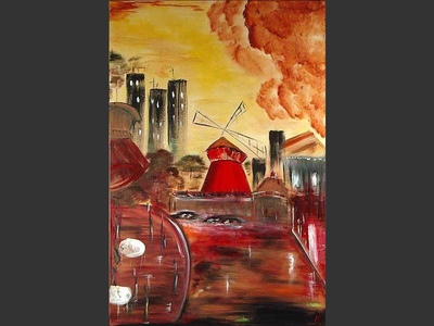Moulin Rouge - original painting by Lena Karpinsky