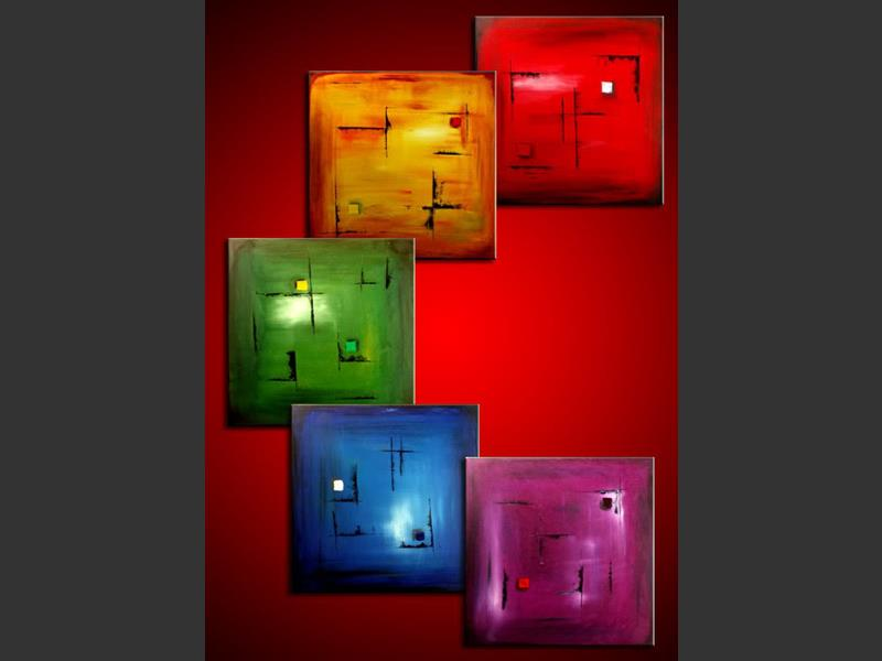 Pentatonic Rainbow - wall art