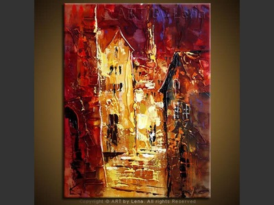 Old City Nights - home decor art