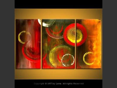 Galactic Spheres - original painting by Lena Karpinsky