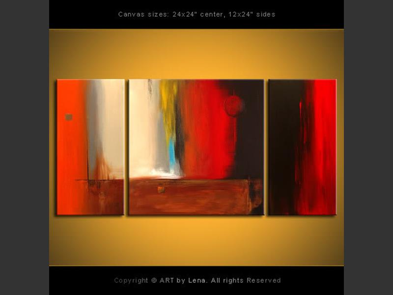 Night and Day - original painting by Lena Karpinsky