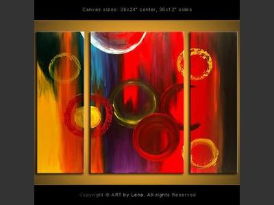 Fireworks on Alpha Centauri - contemporary painting