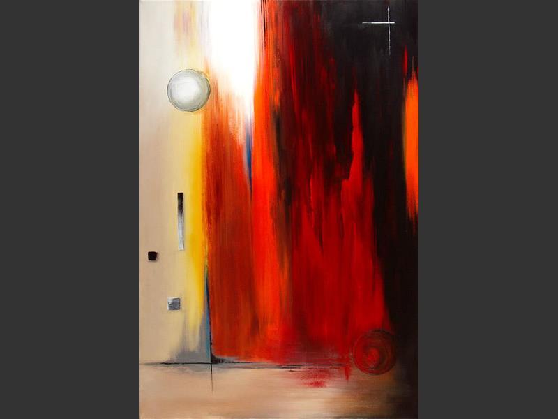 Fire Blast - original painting by Lena Karpinsky