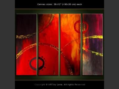 Rings of Fire - modern artwork