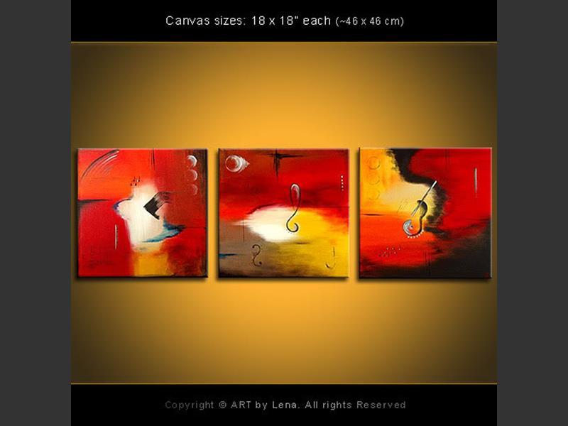 Fantasy for Trio - original canvas painting by Lena