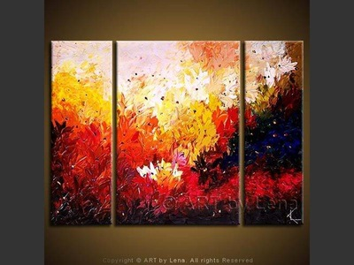 Fire Flowers - wall art