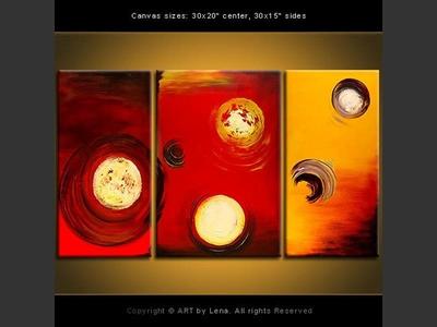 Alien Dominoes – Set Two - original painting by Lena Karpinsky