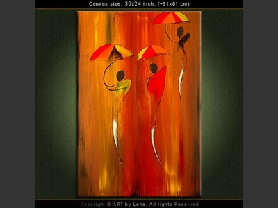 Dancing with Umbrellas - home decor art