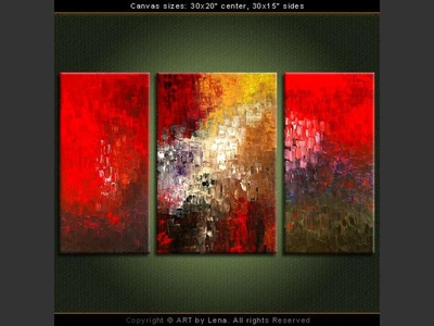 Lost City – Night - original canvas painting by Lena