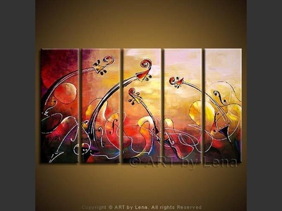 Oceans of Music - original canvas painting by Lena