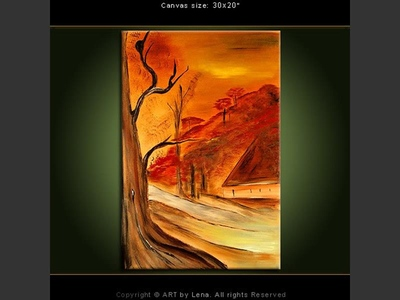 Autumn Hill Dreams - home decor art