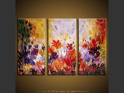 The Colors of Magic - original canvas painting by Lena