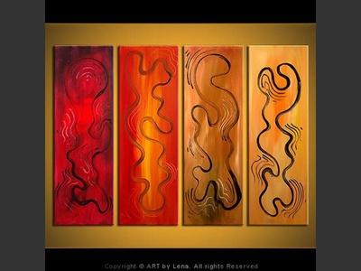 Spirits at Play - original canvas painting by Lena