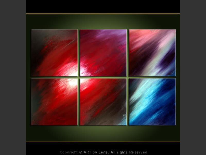 Red Comet - modern artwork