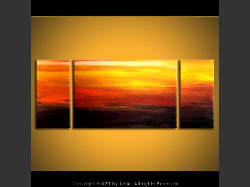 Golden Sunset - modern artwork