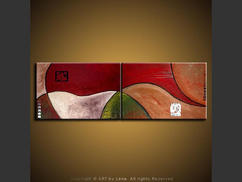 Joust in Time - original painting by Lena Karpinsky