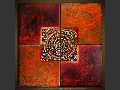 Quadrature of the Circle - original canvas painting by Lena