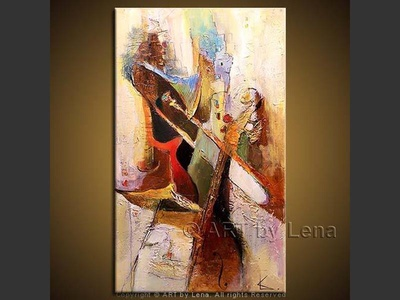 Land of Jazz - original painting by Lena Karpinsky