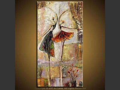 Pas de Deux - original painting by Lena Karpinsky
