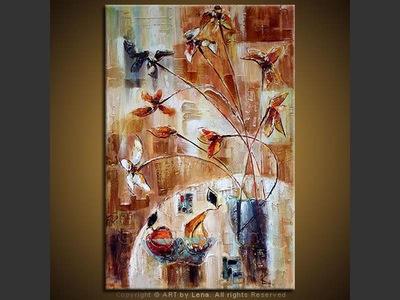 Caramel Dessert - contemporary painting